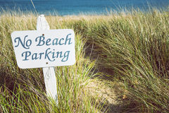 No beach parking sign Royalty Free Stock Photography