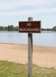 No Beachguard Stock Images