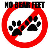 No bear feet Royalty Free Stock Photos