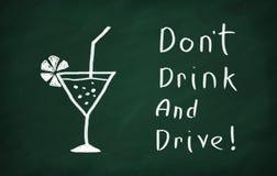 ¡No beba y no conduzca! Fotos de archivo