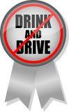 No beba y no conduzca la cinta del botón Fotos de archivo libres de regalías