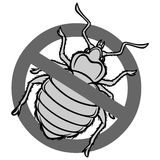 No Bed Bugs Sign stock illustration