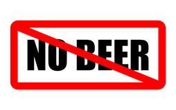 No beer allowed Stock Images