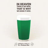 NO BEER in HEAVEN, DRINK it HERE - phrase Stock Photography