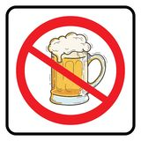No Beer Sign vector illustration