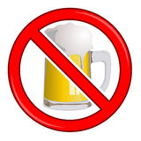 No Beer Sign  Royalty Free Stock Photos