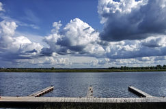 No beira-rio de Lielupe perto de Dubulti Fotografia de Stock