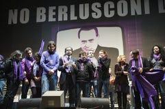 No Berlusconi Day Stock Photo