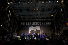 No Berlusconi day, Rome 5/12/09. Manifestation against italian Prime Minister Silvio Berlusconi Royalty Free Stock Photos