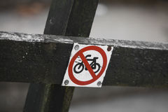 No bicycle Stock Photo