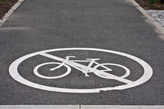 No bicycle line Stock Photography
