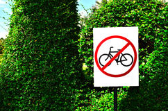 No bicycle or No bicycling or No Cycling Stock Photography