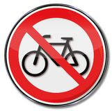 No bicycle parking. Prohibition and no bicycle parking stock illustration