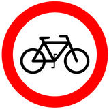 No bicycle sign. On white background vector illustration
