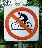 No bicycle sign Stock Photos