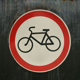No bicycle sign Stock Photo