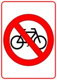 No Bicycle Sign. No bicycle permitted sign - illustration sign Stock Image