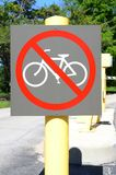 No bicycle sign Royalty Free Stock Photos
