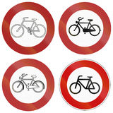 No Bicycle Signs In Germany Royalty Free Stock Photo