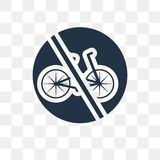 No bicycle vector icon isolated on transparent background, No bi royalty free illustration
