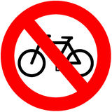 No Bicycles Stock Image