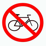 No Bicycles. Sign. Bicycles Prohibited Stock Illustration