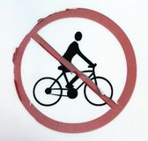 No bicycles allowed Royalty Free Stock Images