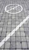 No bike lane symbol Royalty Free Stock Photography