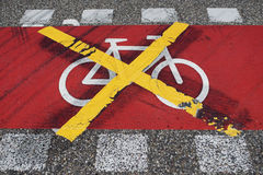No bikes Stock Image
