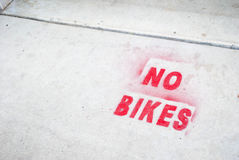 No Bikes Royalty Free Stock Image