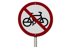 No Bikes Allowed Sign Royalty Free Stock Image