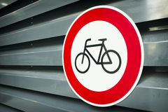 No bikes sign Royalty Free Stock Photo