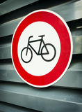 No bikes sign Stock Photos