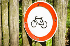 No bikes sign Royalty Free Stock Images