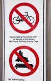 No biking and roller skating Stock Photo