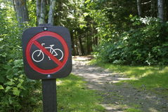 No Biking Sign Stock Photography