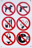 No bikinis, smoking, guns, dogs, drinking and more Stock Photos