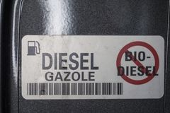 No, for bio diesel Stock Images