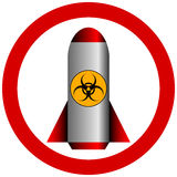 No biohazard rocket. On white background stock illustration