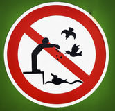 No bird feeding Stock Images