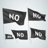 No - black vector flags Stock Photo