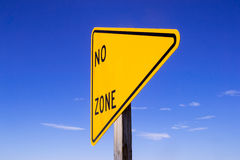 No (blank) zone sign. Stock Images