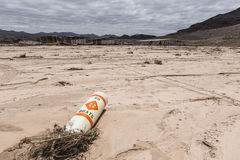 No Boats Buoy - Drought Damaged Marina at Lake Mead Royalty Free Stock Photos
