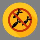 No bomb. Vector image of anti war concept. No bombing sign royalty free illustration