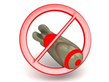 No bombs allowed stock photography