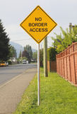 No Border Access Sign Royalty Free Stock Photos