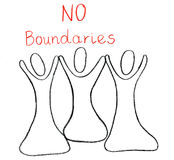 No boundaries drawn with a crayon. Stock Image