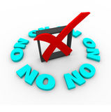 No - Box Marked in Survey Royalty Free Stock Images