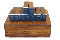 Free NO BRAINER Stamp Set Stock Photos - 95250803