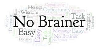 No Brainer word cloud. stock illustration
